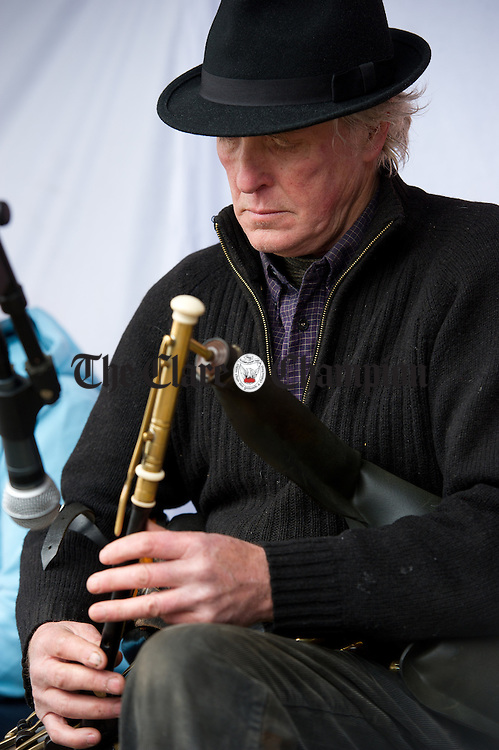 Eugene Lambe playing at the St Patrick's Day Parade at Fanore. Photograph by John Kelly.