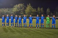 line-up KRC Genk ladies ( Genk's midfielder Emily Steijvers (33) , Genk's forward Carolina Wolters (9) , Genk's midfielder Lorene Martin (6) , Genk's midfielder Jorien Voets (20) , Genk's defender Silke Sneyers (2) , Genk's forward Lotte Van Den Steen (15) , Genk's forward Britt Labro (17) , Genk's defender Fleur Bienkens (23) , Genk's defender Sterre Gielen (14) , Genk's goalkeeper Joséphine Delvaux (1) and Genk's midfielder Sien Vandersanden (10) ) pictured before a female soccer game between  Racing Genk Ladies and Oud Heverlee Leuven on the fourth matchday of the 2020 - 2021 season of Belgian Scooore Womens Super League , friday 9 th of October 2020  in Genk , Belgium . PHOTO SPORTPIX.BE | SPP | STIJN AUDOOREN