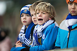 St Johnstone v Celtic…05.02.17     SPFL    McDiarmid Park<br />Young saints fans cheer on the game<br />Picture by Graeme Hart.<br />Copyright Perthshire Picture Agency<br />Tel: 01738 623350  Mobile: 07990 594431