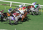 October 3, 2010.Lcky Trippi takes the lead in the 5th at Hollywood Park, Inglewood, CA._Cynthia Lum/Eclipse Sportswirt.com._Cynthia Lum/Eclipse Sportswirt.com