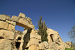 Israel, Jerusalem Mountains, ruins at Belmont or Mount Tzuba
