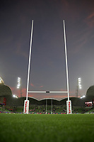 19th March 2021; Melbourne Rectangular Stadium, Melbourne, Victoria, Australia; Australian Super Rugby, Melbourne Rebels versus New South Wales Waratahs; A general view of AAMI Park during sunset