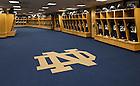 Football locker room in Notre Dame Stadium..Photo by Matt Cashore/University of Notre Dame