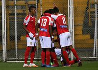 BOGOTÁ- COLOMBIA, 15-04-2021: Tigres F.C.y Barranquilla F.C., durante partido de la segunda ronda de clasificacion por  La Copa BetPlay DIMAYOR 2021 en el estadio Metroplitano de Techo de la ciudad de Bogotá. / Tigres F.C. and Barranquilla F.C.,during the match of  second round of qualification for the BetPlay DIMAYOR  Cup 2020 Tournament at the Metropolitano de Techo stadium in Bogota.  city. Photo: VizzorImage. / Daniel Garzon / Contribuidor