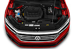 Car Stock 2020 Volkswagen Passat R-Line 4 Door Sedan Engine  high angle detail view