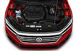Car Stock 2020 Volkswagen Passat R-Line 4 Door Sedan Engine  high angle detail view