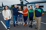The Fitzmaurice family present the proceeds of Paudie Fitzmaurice Memorial Tractor Run, the sum of €5,080 to the ASD Unit in Mhuire Ghan Smal NS Castleisland at the school on Sunday, front l to r: Laura Fitzmaurice, Seamus Moynihan (Principal), Mary, Ava and Sharon Fitzmaurice and Councillor Charlie Farrelly.