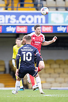 Ben Tozer, Cheltenham Town heads clear during Southend United vs Cheltenham Town, Sky Bet EFL League 2 Football at Roots Hall on 17th October 2020