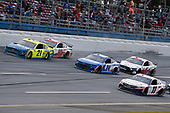 #11: Denny Hamlin, Joe Gibbs Racing, Toyota Camry FedEx Express, #24: William Byron, Hendrick Motorsports, Chevrolet Camaro Hendrickcars.com, #21: Matt DiBenedetto, Wood Brothers Racing, Ford Mustang Menards / Tuscany, #20: Erik Jones, Joe Gibbs Racing, Toyota Camry Sport Clips