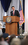 Gov. Brian Sandoval speaks at the inaugural ceremony at the Capitol, in Carson City, Nev., on Monday, Jan. 5, 2015.<br /> Photo by Cathleen Allison