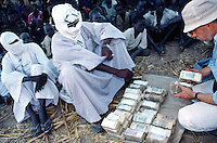 Sudan. South Sudan. Bahr El Ghazal. Mayen Abun. John Ebner, US citizen works for Christian Solidarity International (CSI. He buys back dinka slaves from muslim arab traders. © 1999 Didier Ruef
