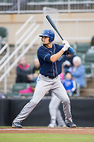 Willie Abreu (6) of the Asheville Tourists at bat against the Kannapolis Intimidators at Kannapolis Intimidators Stadium on May 5, 2017 in Kannapolis, North Carolina.  The Tourists defeated the Intimidators 5-1.  (Brian Westerholt/Four Seam Images)