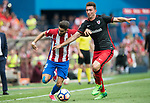Yannick Ferreira Carrasco (L)  of Atletico de Madrid fights for the ball with Aymeric Laporte (R)  of Athletic Club  during their La Liga match between Atletico de Madrid vs Athletic de Bilbao at the Estadio Vicente Calderon on 21 May 2017 in Madrid, Spain. Photo by Diego Gonzalez Souto / Power Sport Images