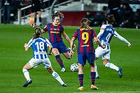 6th January 2021; Camp Nou, Barcelona, Spain. La Liga Womens league football FC Barcelona versus Rcd Espanyol; Alexia Putellas takes a shot on goal during the Liga Iberdrola match