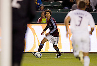 Colorado Rapids midfielder Terry Cooke looks towards the goal as Galaxy's Greg Vanney moves in. LA Galaxy defeated the Colorado Rapids 3-2 at Home Depot Center stadium in Carson, California on Sunday October 12, 2008. Photo by Michael Janosz/isiphotos.com