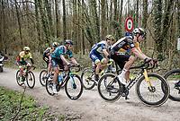 Wout van Aert (BEL/Jumbo-Visma) crossing the Plugstreets gravel roads<br /> <br /> 83rd Gent-Wevelgem - in Flanders Fields (ME - 1.UWT)<br /> 1 day race from Ieper to Wevelgem (BEL): 254km<br /> <br /> ©kramon