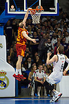 Real Madrid´s Andres Nocioni and Galatasaray´s Guler during 2014-15 Euroleague Basketball match between Real Madrid and Galatasaray at Palacio de los Deportes stadium in Madrid, Spain. January 08, 2015. (ALTERPHOTOS/Luis Fernandez)