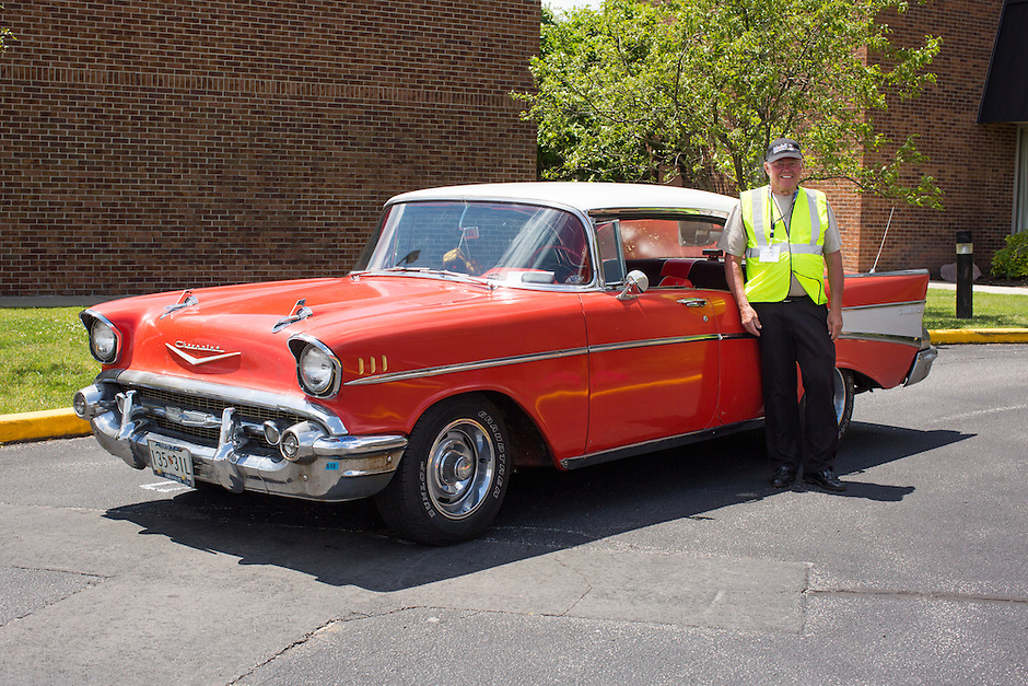 1957 Cruiser Class (#61C) – 1957 Chevrolet Bel Air 4-Door Hardtop registered to April Grammont is pictured during 4th State Representative Chevy Show on Friday, July 1, 2016, in Fort Wayne, Indiana. (Photo by James Brosher)