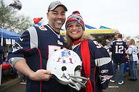 Jason und Kim Canha wohnen in Phoenix und sind große Pats Fans - New England Patriots Fanclub Arizona Fan Rally in Phoenix