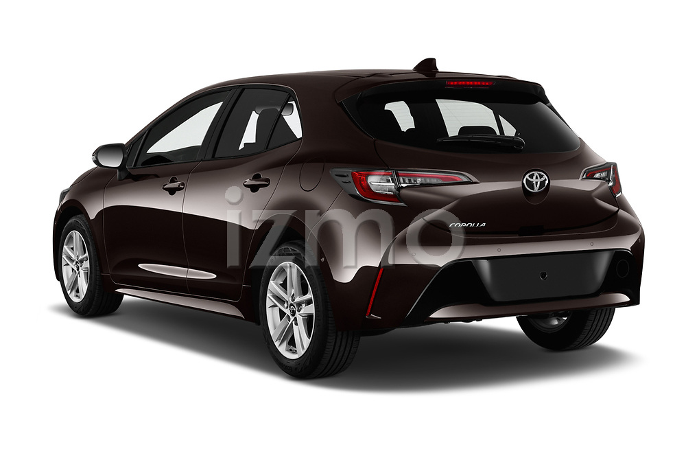 Car pictures of rear three quarter view of a 2019 Toyota Corolla Dynamic 5 Door Hatchback angular rear