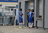 Patric Pfeiffer (SV Darmstadt 98), Tobias Kempe (SV Darmstadt 98), Torwart Marcel Schuhen (SV Darmstadt 98) - 27.08.2020: SV Darmstadt 98 Mannschaftsfoto, Stadion am Boellenfalltor, 2. Bundesliga, emonline, emspor<br /> <br /> DISCLAIMER: <br /> DFL regulations prohibit any use of photographs as image sequences and/or quasi-video.