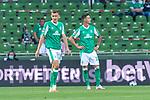 19.09.2020, wohninvest Weserstadion, Bremen, GER,  SV Werder Bremen vs Hertha BSC Berlin, <br /> <br /> <br />  im Bild<br /> <br /> enttäuscht / enttaeuscht / traurig / Niederlage / dissapointed<br /> Querformat<br /> Maximilian Eggestein (Werder Bremen #35)<br /> Marco Friedl (Werder Bremen #32)<br /> <br /> Foto © nordphoto / Kokenge<br /> <br /> DFL regulations prohibit any use of photographs as image sequences and/or quasi-video.