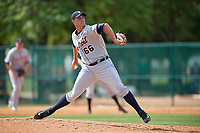 Detroit Tigers pitcher Zac Houston (66) during a minor league Spring Training game against the Atlanta Braves on March 25, 2017 at the ESPN Wide World of Sports Complex in Orlando, Florida.  (Mike Janes/Four Seam Images)