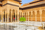 Alhambra, Granada - Spain, courtyard