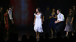 """Erik Lochtefeld, Christiani Pitts and Eric William Morris  during the Broadway Opening Night Curtain Call for """"King Kong - Alive On Broadway"""" at the Broadway Theater on November 8, 2018 in New York City."""