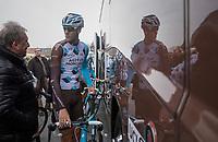 Stijn Vandenbergh (BEL/AG2R-LaMondiale) pré-race<br /> <br /> 60th E3 Harelbeke (1.UWT)<br /> 1day race: Harelbeke › Harelbeke - BEL (206km)