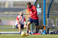 BRADENTON, FL - JANUARY 23: Paul Arriola moves with the ball during a training session at IMG Academy on January 23, 2021 in Bradenton, Florida.