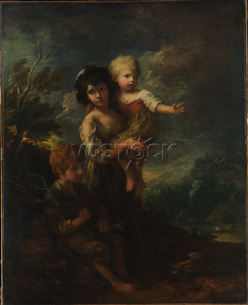 Cottage Children, The Wood Gatherers - by Thomas Gainsborough, 1787