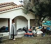 Geflüchtete nach ihrer Ankunft an einem Strand am 6.3.2020 etwas westlich von Skala Sykamneas, Lesbos, Griechenland