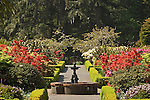 Gardens at former Simpson Estate, Shore Acres State Park, Oregon coast.