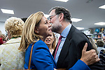 """Dolores de Cospedal and the former president of the government, Mariano Rajoy, in the presentation of the book """"Cada dia tiene su afan"""" by former minister Jorge Fernandez Diaz.<br /> October 10, 2019. <br /> (ALTERPHOTOS/David Jar)"""