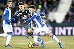 CD Leganes' Unai Lopez (r) and Celta de Vigo's Nemanja Radoja during La Liga match. January 28,2017. (ALTERPHOTOS/Acero)