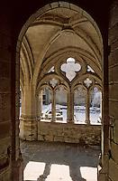 Europe/France/Auvergne/43/Haute-Loire/Parc Naturel Régional du Livradois-Forez/La Chaise Dieu: L'église abbatiale de Saint-Robert (architecture gothique) - Détail cloître