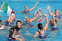 Ekipe Orizzonte Catania Campione d'Italia Esultanza <br /> Catania 12-05-2019 Piscina Plaia  <br /> Campionato Italiano Final Six Unipolsai <br /> Pallanuoto Donne <br /> Finale 1/2 Posto  <br /> Ekipe Orizzonte Catania - SIS Roma <br /> Foto Andrea Staccioli/Deepbluemedia/Insidefoto