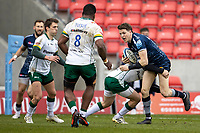 21st March 2021; AJ Bell Stadium, Salford, Lancashire, England; English Premiership Rugby, Sale Sharks versus London Irish; Sam James of Sale Sharks is tackled