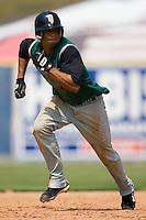Augusta shortstop Emmanuel Burris (5) takes off for third base versus Kannapolis at Fieldcrest Cannon Stadium in Kannapolis, NC, Monday, September 3, 2007.