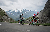 up the Col de l'Iseran (HC/2751m/13km@7.3%) <br /> > where the race was eventually stopped (at the top) because of landslides further up the road (after a severe hail storm in Tignes)<br /> <br /> Stage 19: Saint-Jean-de-Maurienne to Tignes (126km)<br /> 106th Tour de France 2019 (2.UWT)<br /> <br /> ©kramon