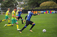 Haris Zeb in action during the Central League football match between Miramar Rangers and Lower Hutt AFC at David Farrington Park in Wellington, New Zealand on Saturday, 10 April 2021. Photo: Dave Lintott / lintottphoto.co.nz