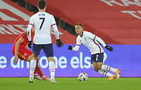 SWANSEA, WALES - NOVEMBER 12: Sergino Dest #2 of the United States moves with the ball during a game between Wales and USMNT at Liberty Stadium on November 12, 2020 in Swansea, Wales.