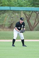 AZL White Sox left fielder Alex Destino (18) on defense against the AZL Padres on July 31, 2017 at Camelback Ranch in Glendale, Arizona. AZL White Sox defeated the AZL Padres 2-1. (Zachary Lucy/Four Seam Images)