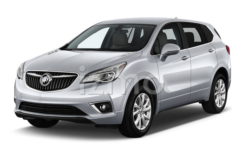 2020 Buick Envision Preferred FWD 5 Door SUV angular front stock photos of front three quarter view