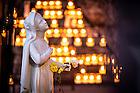 Apr. 17, 2016; St. Bernadette Statue at the Grotto (Photo by Matt Cashore/University of Notre Dame)