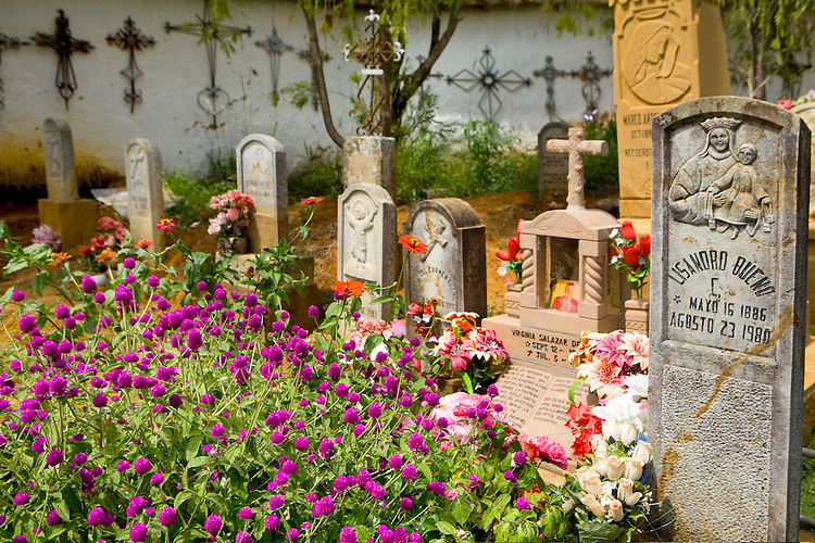 Cemetery in Barichara, Santander, Colombia