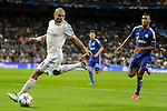 Real Madrid´s Pepe and FC Shalke 04´s Eric Maxim Choupo-Moting during 2014-15 Champions League match between Real Madrid and FC Shalke 04 at Santiago Bernabeu stadium in Madrid, Spain. March 10, 2015. (ALTERPHOTOS/Luis Fernandez)