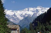 - the Mount Rosa seen from Gressoney valley ....- il Monte Rosa visto dalla valle di Gressoney