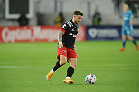 WASHINGTON, DC - MAY 13: Paul Arriola #7 of D.C. United dribbles the ball during a game between Chicago Fire FC and D.C. United at Audi FIeld on May 13, 2021 in Washington, DC.